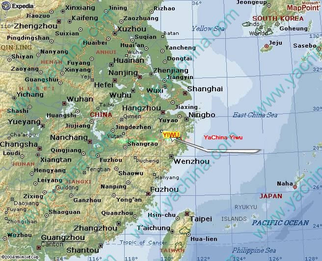 Yiwu Map China